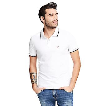 Guess Grady Mens Polo Shirt - Wit