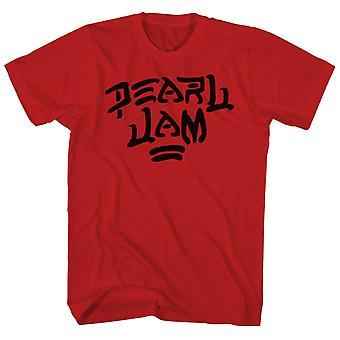 Pearl Jam T Shirt Brushstroke Logo Pearl Jam Shirt