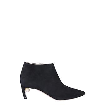 Nicholas Kirkwood 905a45sls5n99 Femmes's Black Suede Ankle Boots