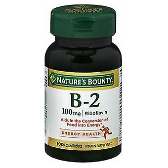 Nature's Bounty Vitamin B-2, 100 mg, 100 tabs