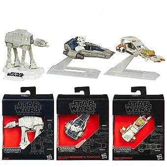 3-Pack Star Wars The Black Series Titanium Metal Spaceship No.11/18/19