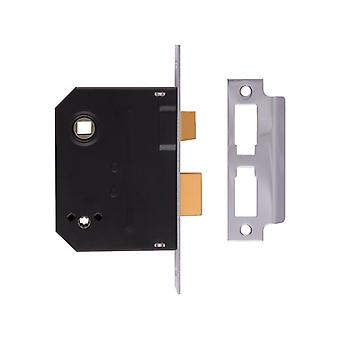 UNION 2294 Mortice Bathroom Lock Chrome Finish 63mm 2.5in Box UNNJ2294CH25