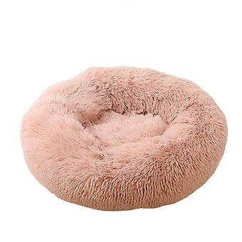 Dog Cat Bed, Round Self-warm Calming Pet Bed, Soft Puppy Sofa