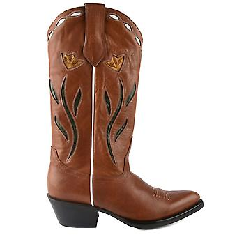 Ash PARADISH Cowboy Boots Brown Leather