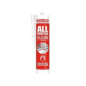 Evo-stik All Purpose Silicone Sealant Clear C20