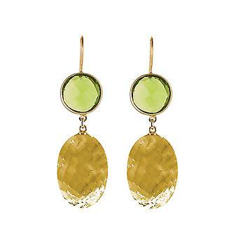 Gemshine Ohrringe goldgelbe Citrinen und Turmalin Quarze in 925 Silber vergoldet