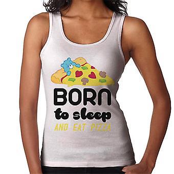 Cura orsi orso bedtime nato per dormire e mangiare Pizza Donne's Vest