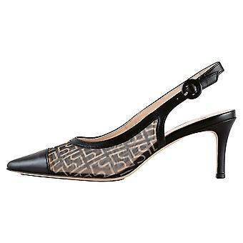 Högl 9-10 6216 Agate Stylish Pointed Toe Slingback Shoes In Black