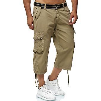 Shorts cargo pour hommes Bermuda Bottoms 3/4 Pantalons en coton Pantalons décontractés en plein air
