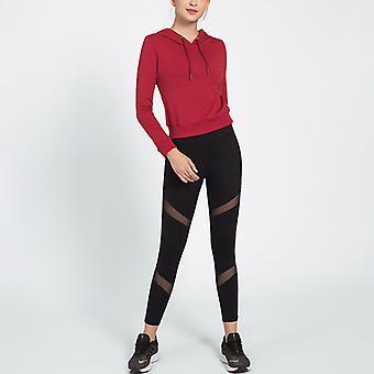 Kvinnors 2-delars outfits långärmad pullover sweatshirt skinny långbyxor träningsoverall set