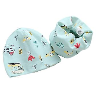 Bavlna Plyšový klobouk šátek Set, Cartoon Ovce, Sova, Baby Zimní Čepice