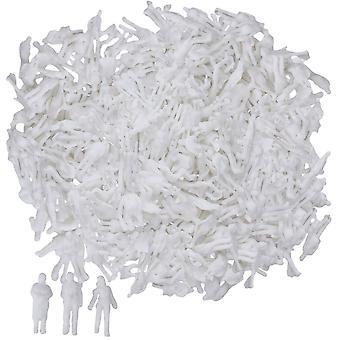 1000x Modèle blanc Non peint Passagers personnes 1:150 N Jauge