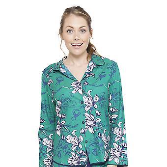 Rosie Emerald verde Floral impressão Pyjama Top Cyberjammies 4065 feminina