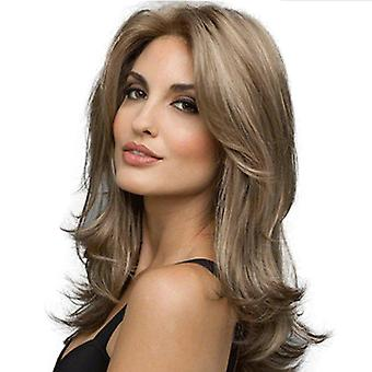 Women's Wig Mid-Length Fashion Women's Wish Mid-Length Curly Hair Synthetic Wigs