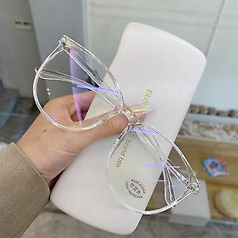 Transparent Glasses Frame, Anti Blue Light Round Eyewear Blocking Glasses