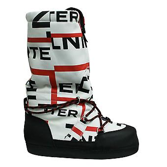 Hunter Original Womens Snow Boots Exploded Logo Black White WFT2001ELP BLK
