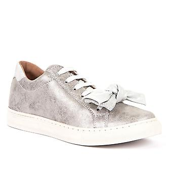 FRODDO Laced Leather Shoe Silver