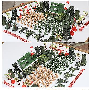 122pcs/set Army Military sand table scene military base Plastic soldiers 6cm