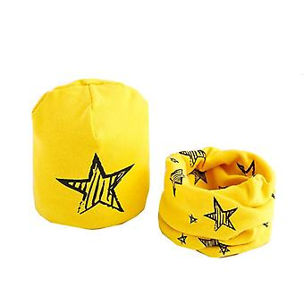 Plush Hat Scarf Set,  Star Print