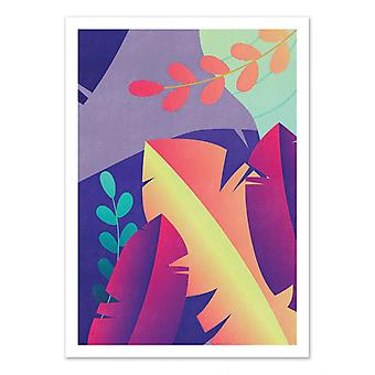 Art-Poster - Gradient floral - Seven trees