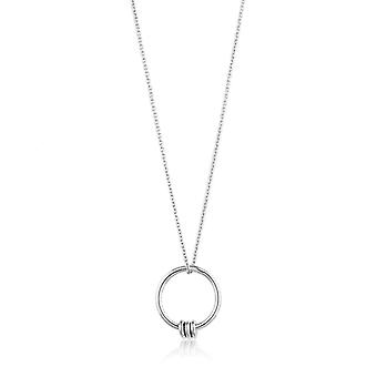 Ania Haie Sterling Silver Rhodium Plated Modern Circle Necklace N002-01H