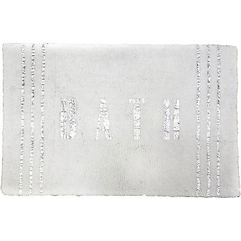 سبورا الرئيسية الهندي القطن الفضة احباط تسمية غراي حمام حصيرة 21x32