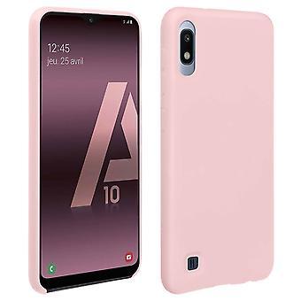 Samsung Galaxy A10 silikone semi-stiv sag, soft touch mat finish-pink