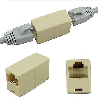 Network Ethernet Dual Straight Head & Lan Cable Joiner Coupler / Extender Plug
