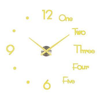 New Fashion 3d Big Size Wall Clock Mirror Sticker Diy Brief Living Room