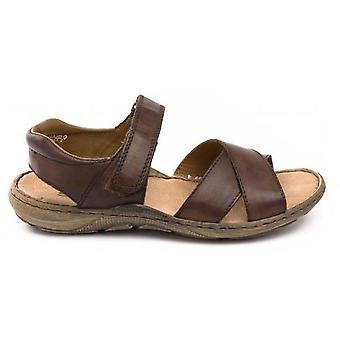 Rieker nougat brązowe sandały męskie brązowy 001