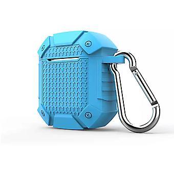 Pouzdro s klíčnou houštinou kompatibilní pro Apple AirPods 1 & 2 _ (Armor Design) Modrá