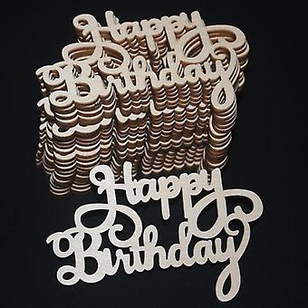 """20kpl """"hyvää syntymäpäivää"""" Laser leikattu puiset viipaleet käsityö kirje ripustus"""