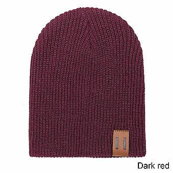 Solid Color Knit  Winter Hat Scarf Set