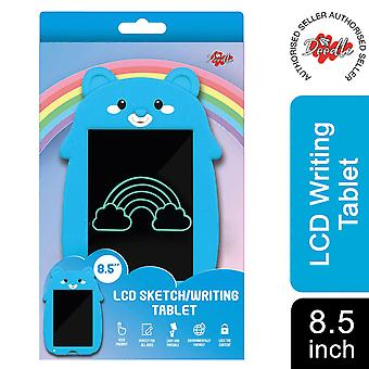 Doodle 8.5 inch Kid's LCD writing tablet with cartoon pad, Blue Bear