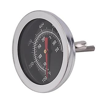 Stainless Steel Bbq Smoker Pit Grill Bimetallic Thermometer Temp Gauge With