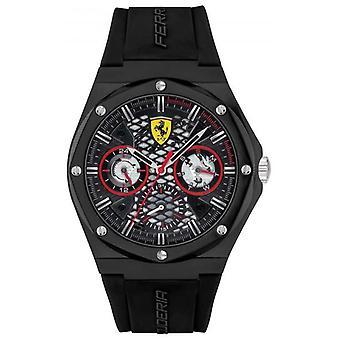 Scuderia Ferrari Aspire | Svart silikonrem | Svart urtavla 0830785 klocka