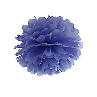 Pompon à suspendre en papier bleu marine 25 cm