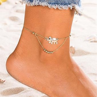 Vintage Boho Monikerroksiset beads nilkat muoti Sun Pendent