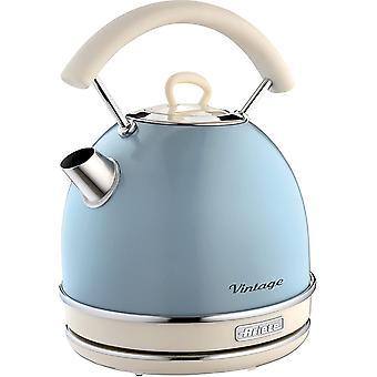 Wokex 2877 Kabelloser Wasserkocher Vintage, 1,7 L, 2200 W, blau, Rostfreier Stahl