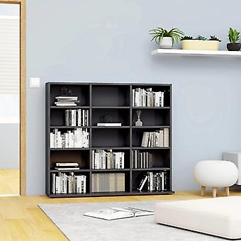 vidaXL CD shelf high gloss grey 102x23x89.5 cm chipboard