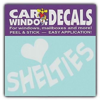 "Decal, Window Decal, Love Shelties, 4.5"" Wide"