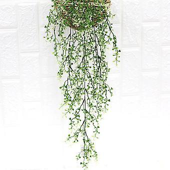 צמח מלאכותי ראטאן ירוק נוף קיר דקורטיבי צמח פלסטיק צמחים ירוקים מזויפים 5pcs