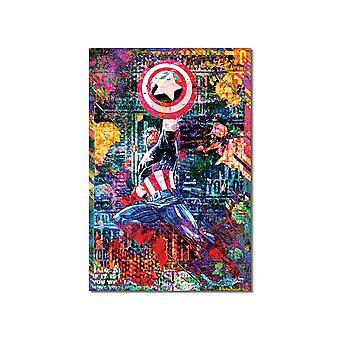 Het graffiti schilderen van De Amerika van de kapitein
