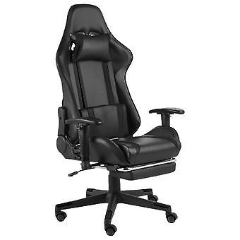 vidaXL gaming stoel met voetsteun draaibaar zwart PVC