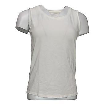 G.I.L.I. lo consiguió encantará Mujer Top Sleeveless Curved Hem White A354269