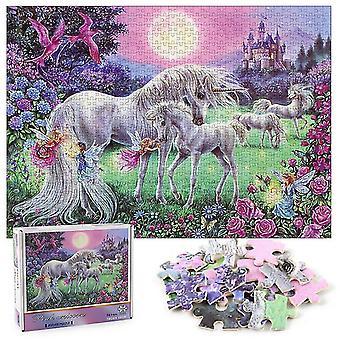 Unicorn pegasus jigsaw puzzle ,1000 pcs educational decompression puzzle,wall decoration az9743