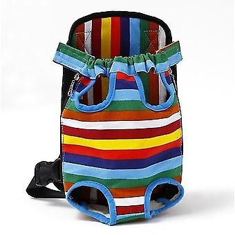 Rainbow l mesh pet carrier backpcs breathable camouflage shoulder handle bags cai203