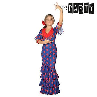 Puku Lapsille Flamenco tanssija Sininen