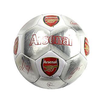 Arsenal Special Edition Signature Fußball Silber Weiß Größe 5