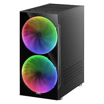 ATX Semi-tower Box Mars Gaming MC9 LED RGB Black